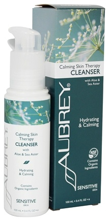 Aubrey Organics - Calming Skin Therapy Cleanser with Aloe & Sea Aster - 3.4 oz. (Formerly Vegecol Facial Cleansing Lotion)