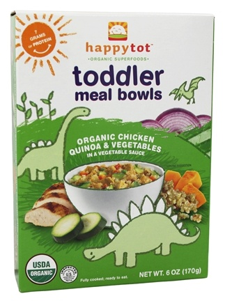 DROPPED: HappyFamily - Happy Tot Organic Superfoods Toddler Meal Bowl Chicken Quinoa & Vegetables - 6 oz.