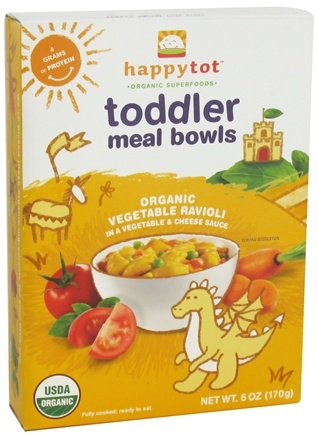 DROPPED: HappyFamily - Happy Tot Organic Superfoods Toddler Meal Bowl Vegetable Ravioli - 6 oz.