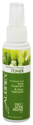 Aubrey Organics - Clarifying Therapy Toner 1% Salicylic Acid Acne Treatment - 3.4 oz. (Formerly Natural Herbal Astringent)