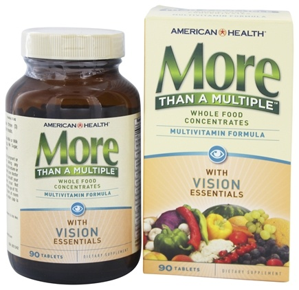 American Health - More Than A Multiple with Vision Essentials - 90 Tablets
