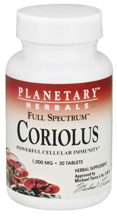 DROPPED: Planetary Herbals - Coriolus Full Spectrum 1000 mg. - 30 Tablet(s) CLEARANCE PRICED