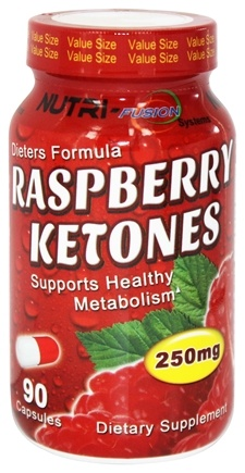 DROPPED: Fusion Diet Systems - Raspberry Ketones 250 mg. - 90 Capsules CLEARANCE PRICED
