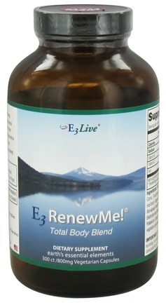E3Live - E3 Renew Me! Total Body Blend 800 mg. - 300 Vegetarian Capsules