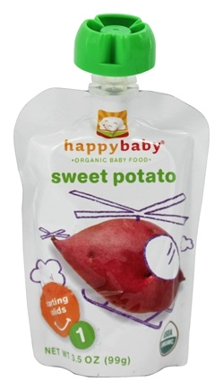DROPPED: HappyFamily - Organic Baby Food Stage 1 Starting Solids Sweet Potato - 3.5 oz.