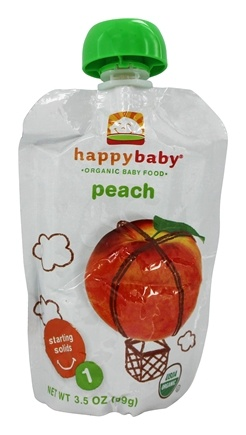 DROPPED: HappyFamily - Organic Baby Food Stage 1 Starting Solids Peach - 3.5 oz.