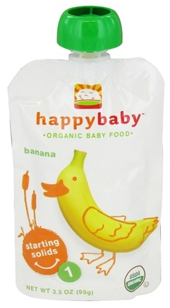 DROPPED: HappyBaby - Organic Baby Food Stage 1 Starting Solids Banana - 3.5 oz.