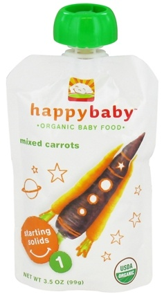 DROPPED: HappyFamily - Organic Baby Food Stage 1 Starting Solids Mixed Carrots - 3.5 oz.
