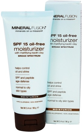 Mineral Fusion - Oil-Free Moisturizer Broad Spectrum 15 SPF - 3.4 oz. Formerly Facial Moisturizer Mattifying Oil-Control