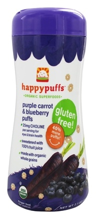 HappyBaby - Happy Puffs Organic SuperFoods Purple Carrot & Blueberry - 2.1 oz.