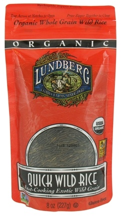 DROPPED: Lundberg - Organic Quick Wild Rice - 8 oz. CLEARANCE PRICED