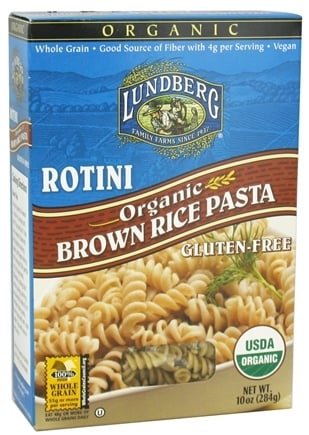 DROPPED: Lundberg - Organic Rotini Brown Rice Pasta - 10 oz. CLEARANCE PRICED