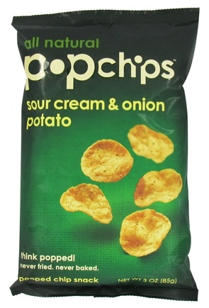 DROPPED: Popchip - Potato Chips Sour Cream & Onion - 3 oz.