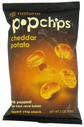 DROPPED: Popchip - Potato Chips All Natural Cheddar - 3 oz. CLEARANCE PRICED