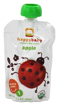 DROPPED: HappyBaby - Organic Baby Food Stage 1 Starting Solids Apple - 3.5 oz.