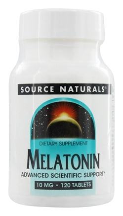 Source Naturals - Melatonin 10 mg. - 120 Tablets