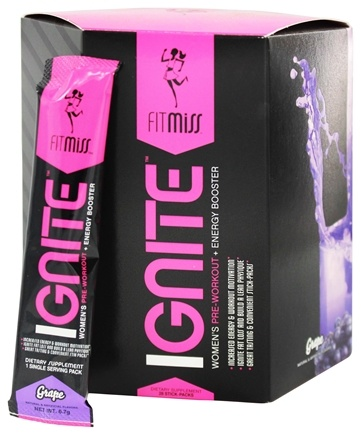 DROPPED: FitMiss - Ignite Women's Pre-Workout & Energy Booster Grape - 28 Pack(s) CLEARANCE PRICED