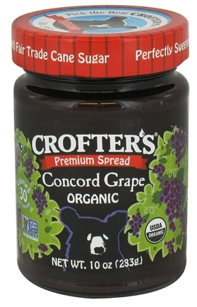 DROPPED: Crofter's Organic - Premium Spread Organic Concord Grape - 10 oz. CLEARANCE PRICED
