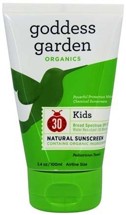 Goddess Garden - Kids Natural Sunscreen 30 SPF - 3.4 oz. Formerly Goddess Garden - Sunny Kids Natural Sunscreen
