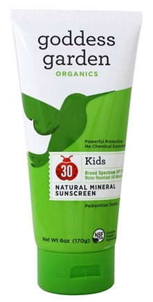 Goddess Garden - Kids Natural Sunscreen 30 SPF - 6 oz. Formerly Goddess Garden - Sunny Kids Natural Sunscreen