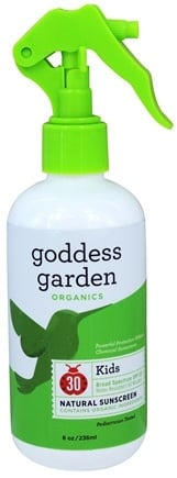 Goddess Garden - Kids Natural Sunscreen 30 SPF - 8 oz. Formerly Goddess Garden - Sunny Kids Natural Sunscreen Spray