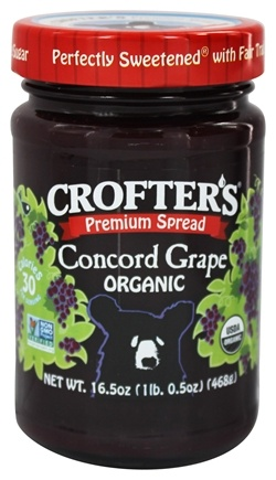 Crofter's Organic - Premium Spread Organic Concord Grape - 16.5 oz.