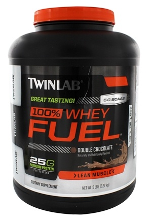 DROPPED: Twinlab - 100% Whey Fuel Double Chocolate - 5 lbs. CLEARANCE PRICED