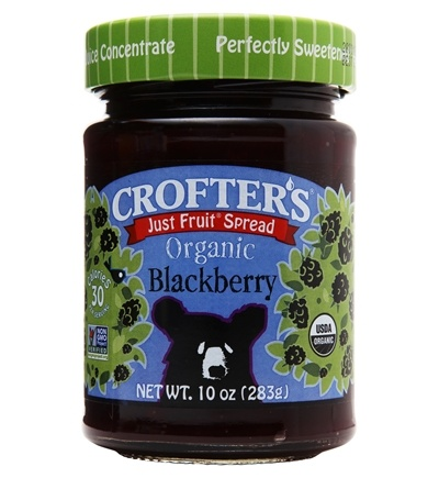 DROPPED: Crofter's Organic - Just Fruit Spread Organic Blackberry - 10 oz. CLEARANCE PRICED