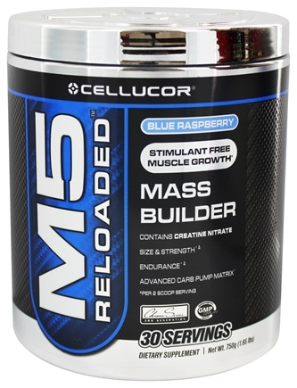DROPPED: Cellucor - M5 Reloaded Mass Builder Blue Raspberry 30 Servings - 1.65 lbs.