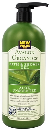DROPPED: Avalon Organics - Bath & Shower Gel Aloe Unscented - 32 oz.