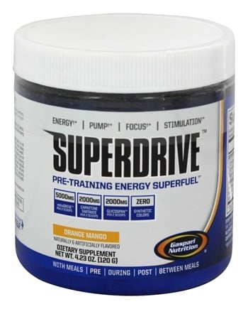 DROPPED: Gaspari Nutrition - Superdrive Pre-Training Energy Superfuel Orange Mango - 4.23 oz. CLEARANCE PRICED
