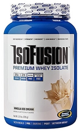DROPPED: Gaspari Nutrition - IsoFusion Premium Whey Isolate Vanilla Ice Cream - 1.6 lbs. CLEARANCE PRICED