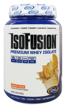 DROPPED: Gaspari Nutrition - IsoFusion Premium Whey Isolate Orange Cream - 1.6 lbs. CLEARANCE PRICED