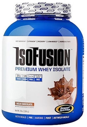 DROPPED: Gaspari Nutrition - IsoFusion Premium Whey Isolate Milk Chocolate - 3 lbs.