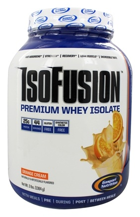 DROPPED: Gaspari Nutrition - IsoFusion Premium Whey Isolate Orange Cream - 3 lbs. CLEARANCE PRICED