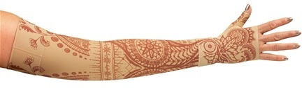 LympheDIVAs - Arm Sleeve Class 2 Medium Regular with Diva Diamond Band Bodhi - Beige