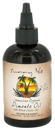 DROPPED: Sunny Isle - Jamaican Organic Pimento Oil with Black Castor Oil - 4 oz. CLEARANCE PRICED