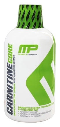 DROPPED: Muscle Pharm - Liquid Carnitine Core Series Balanced Formula with Raspberry Ketones Citrus - 16 oz.