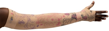 LympheDIVAs - Arm Sleeve Class 1 Small Short with Diva Diamond Band C4YW Beige