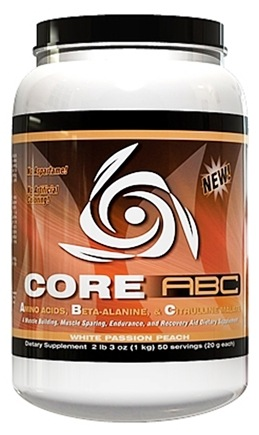 DROPPED: Core Nutritionals - Core ABC Dietary Supplement White Passion Peach - 2.2 lbs. CLEARANCE PRICED