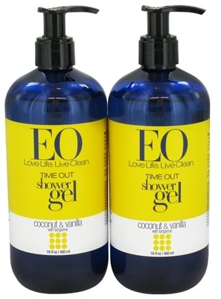 DROPPED: EO Products - Time Out Shower Gel Coconut & Vanilla with Tangerine Bonus Pack 2 x 16 fl oz.