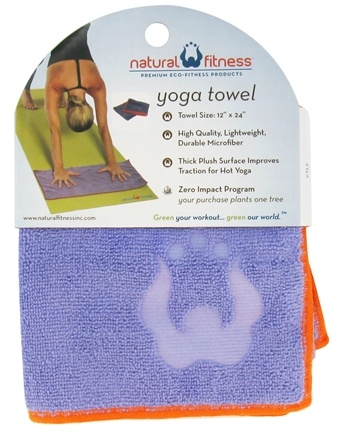 DROPPED: Natural Fitness - Yoga Hand Towel Lavender - CLEARANCE PRICED