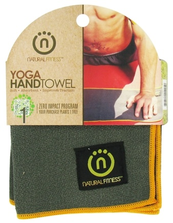 DROPPED: Natural Fitness - Yoga Hand Towel Carbon/Sun - CLEARANCE PRICED