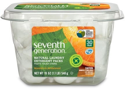 DROPPED: Seventh Generation - Natural Laundry Detergent Packs Mandarin & Sandalwood - 30 Pack(s) CLEARANCE PRICED