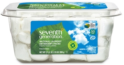 DROPPED: Seventh Generation - Natural Laundry Detergent Packs Free & Clear - 50 Pack(s)