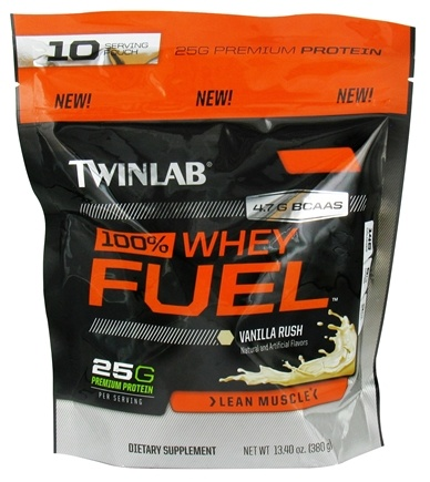 DROPPED: Twinlab - 100% Whey Fuel Pouch Vanilla Rush - 13.4 oz. CLEARANCE PRICED