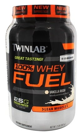 DROPPED: Twinlab - 100% Whey Fuel Vanilla Rush - 2 lbs. CLEARANCE PRICED