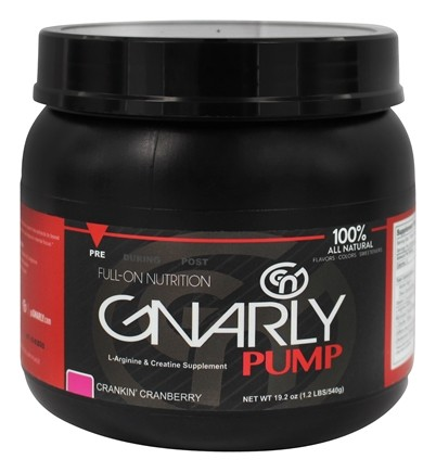 Gnarly Nutrition - Pump L-Arginine & Creatine Supplement Crankin' Cranberry - 19.2 oz.