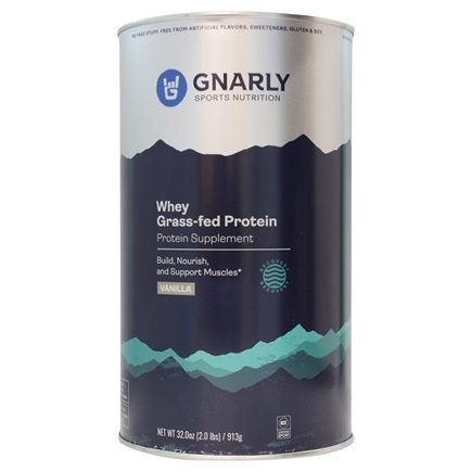 DROPPED: Gnarly Nutrition - Whey Protein Grass Fed Vicious Vanilla - 32 oz. CLEARANCED PRICED