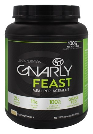 DROPPED: Gnarly Nutrition - Feast Meal Replacement Grass Fed Vicious Vanilla - 32 oz. CLEARANCED PRICED